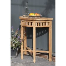 Betawi Garden Half Round Teak Side Table