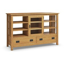 Mission Hills Entertainment Console Two Drawers, One Glass Door, Six Adjustable Shelves