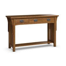 FLW Sofa Table With Three Drawers