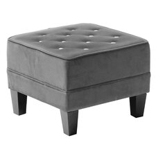 Velvet Diamante Chesterfield Footstool