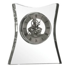 Square Crystal Table / Mantel Clock Flared
