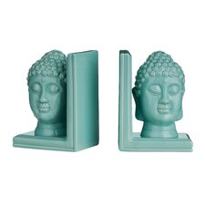 Buddha Head Bookends (Set of 2)