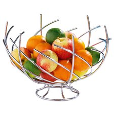 Spiral Design Twisted Fruit Basket in Chrome