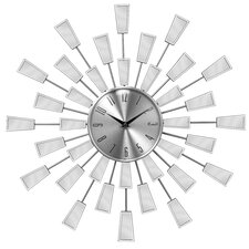 Square Edge Sunburst Mirror Wall Clock