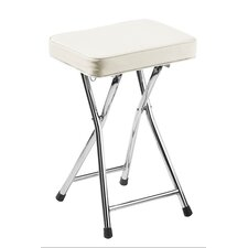Rectangular Stool with Chrome Frame