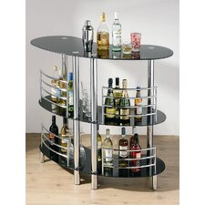 <strong>Premier Housewares</strong> Three Tier Curved Bar Table