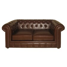 Chesterfield Leather 2 Seater Sofa