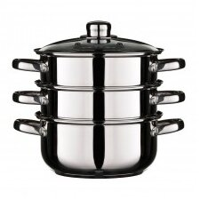 29 cm Stainless Steel Food Steamer with Lid