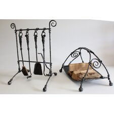 6 Piece Fireplace Companion Set