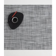 Rectangle Basketweave Woven Vinyl Placemat