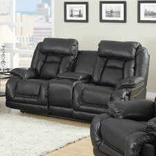 Mt. Bachelor Leather Reclining Loveseat