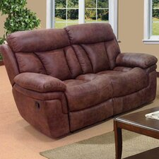 Sierra Leather Reclining Loveseat