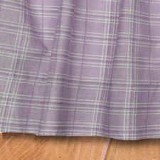 Lavender Rose Gathered Plaid Quilted Cotton Bed Skirt