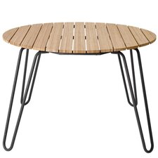 Peacock Round Aluminium / Bamboo Dining Table