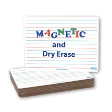 "Magnetic Dry Erase Dual-Sided 9"" x 1' Whiteboard (Set of 12)"