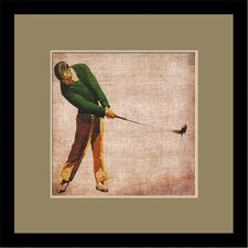 Vintage Golf II by Butler Custom Framed Wall Art