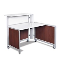 Access Point Corner Desk with Transaction Top