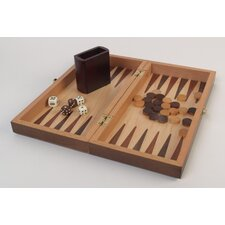 "11.5"" Walnut Wood 3-in-1 Game Set"