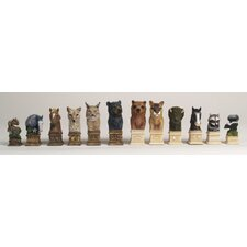 Wild Animals of America Chess Set
