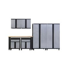 7 Piece Storage Cabinet Set