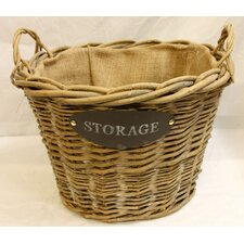 Log Fireplace Storage Basket