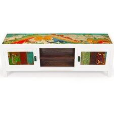 """Channel Surf 59"""" Reclaimed Wood TV Stand"""