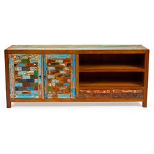 """Reel Deal 71"""" Reclaimed Wood TV Stand"""