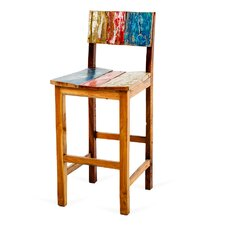 Aqua Vitae Reclaimed Wood Bar Chair