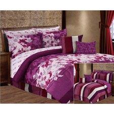 Gloriosa 10 Piece Reversible Printed Ensemble Comforter Set