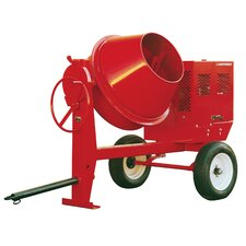 6 Cubic Foot 115 / 230V Single Phase Steel Drum Concrete Mixer