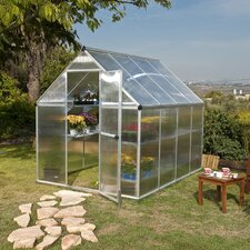 "7' 1"" H x 6.0 W x 8.0 D Nature Twin Wall Polycarbonate Greenhouse"