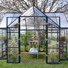"Chalet 8'10"" H x 11'12"" W x 7'11"" D Twin Wall Polycarbonate 4 mm Greenhouse"