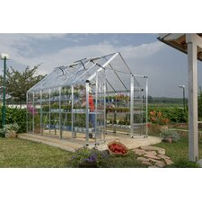 "Snap and Grow 6' 9"" H x 8.0' W x 12.0' D Polycarbonate Greenhouse"