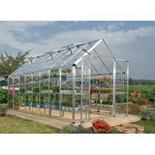 "Snap and Grow 6' 9"" H x 8.0' W x 16.0' D Polycarbonate Greenhouse"