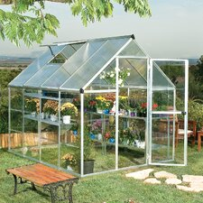 Hybrid 6 Ft. W x 8 Ft. D Polycarbonate Greenhouse