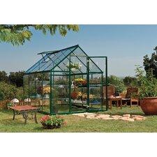 Harmony 6' W x 8' D Aluminum Hobby Greenhouse