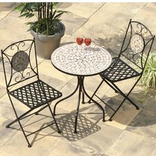 Casablanca 3 Piece Round Dining Set