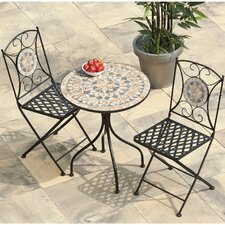 Algiers 3 Piece Round Dining Set