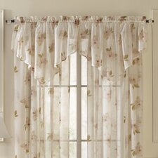 Waterlilly Scroll Ascot Curtain Valance