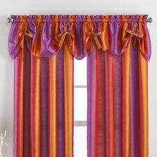 Rainbow Ombre Tie-Up Curtain Valance