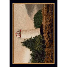 Fall Seasonal Cape Lighthouse Novelty Rug