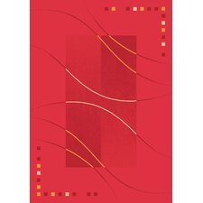 Pastiche Caliente Rouge Red Area Rug