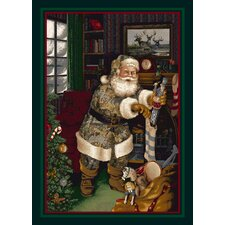 Realtree Camo Santa Christmas Novelty Rug