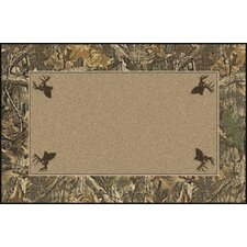 Realtree Timber Solid Center Novelty Rug