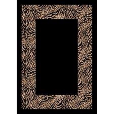 Design Center Black/Gray Matamba Zebra Area Rug