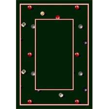 Design Center Billiards Emerald Novelty Rug