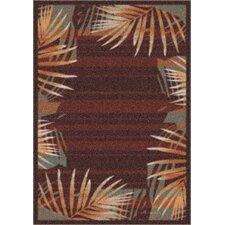 Modern Times Palm Dark Chocolate Area Rug