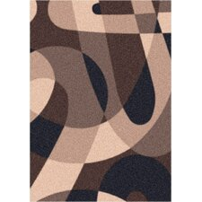 Modern Times Element Dark Brown  Area Rug