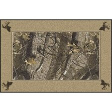Realtree Hardwoods Solid Border Novelty Rug