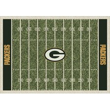 NFL Team Home Field Green Bay Packers Area Rug
